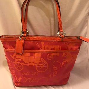 Coach signature coach handbag